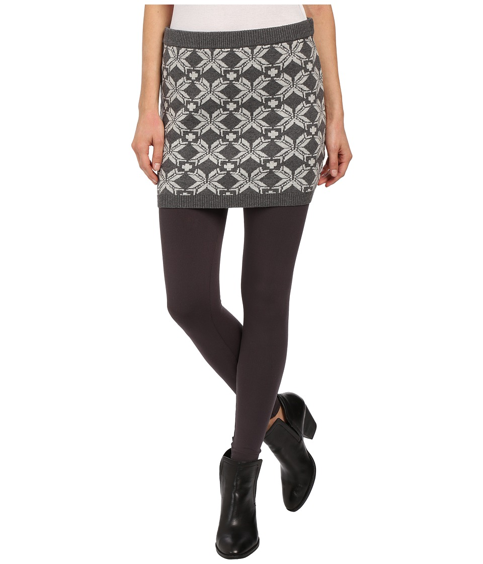 Hatley - Sweater Skirt (Charcoal Snowflakes) Women's Skirt