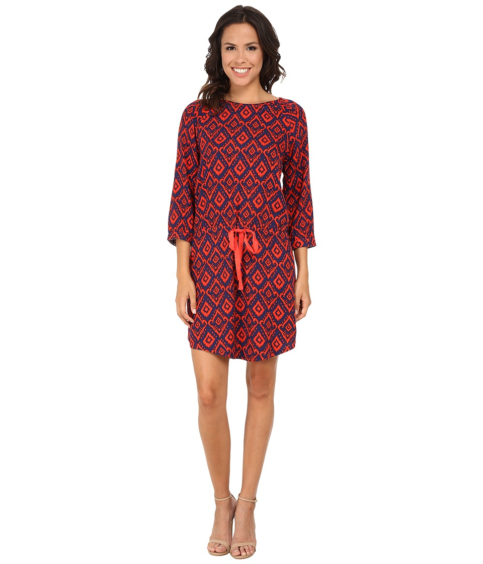 Hatley - Dropped Waist Dress (Orange Ikat) Women's Dress