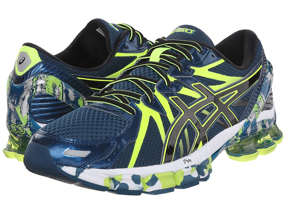 ASICS - Gel-Sendai 3 (Ink/Black/Flash Yellow) Men's Running Shoes