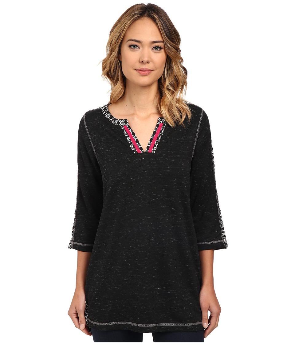 Hatley - Mixed Media Tunic (Black) Women's Blouse
