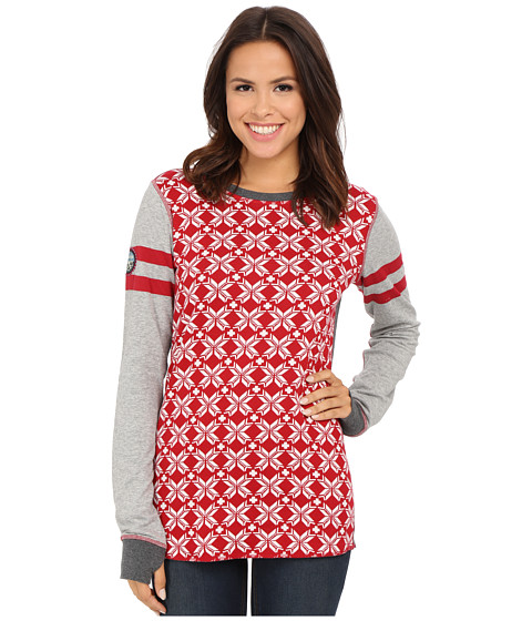 Hatley - Reversible Top (Ruby Snowflakes) Women's Clothing