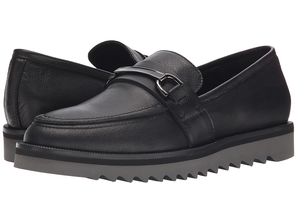 Aquatalia - Panna (Black Rustico Calf) Women's Slip on Shoes