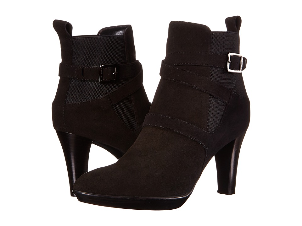 Aquatalia - Rama (Black Suede/Elastic) High Heels