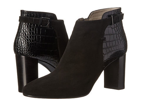 Aquatalia - Vela (Black Suede/Crocco Calf) High Heels