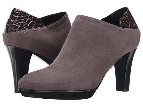 Aquatalia - Ramona (Taupe Suede/Croc Calf) Women's Rain Boots