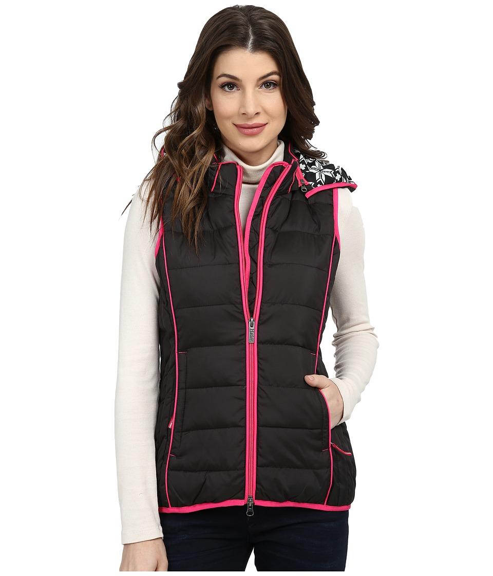 Hatley - Outerwear Vest (Black Snowflakes) Women's Vest