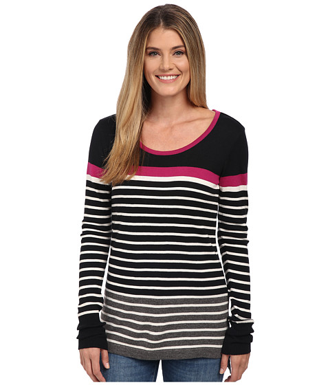 Hatley - Long Sleeve Sweater (Black/Fuchsia Stripes) Women's Sweater