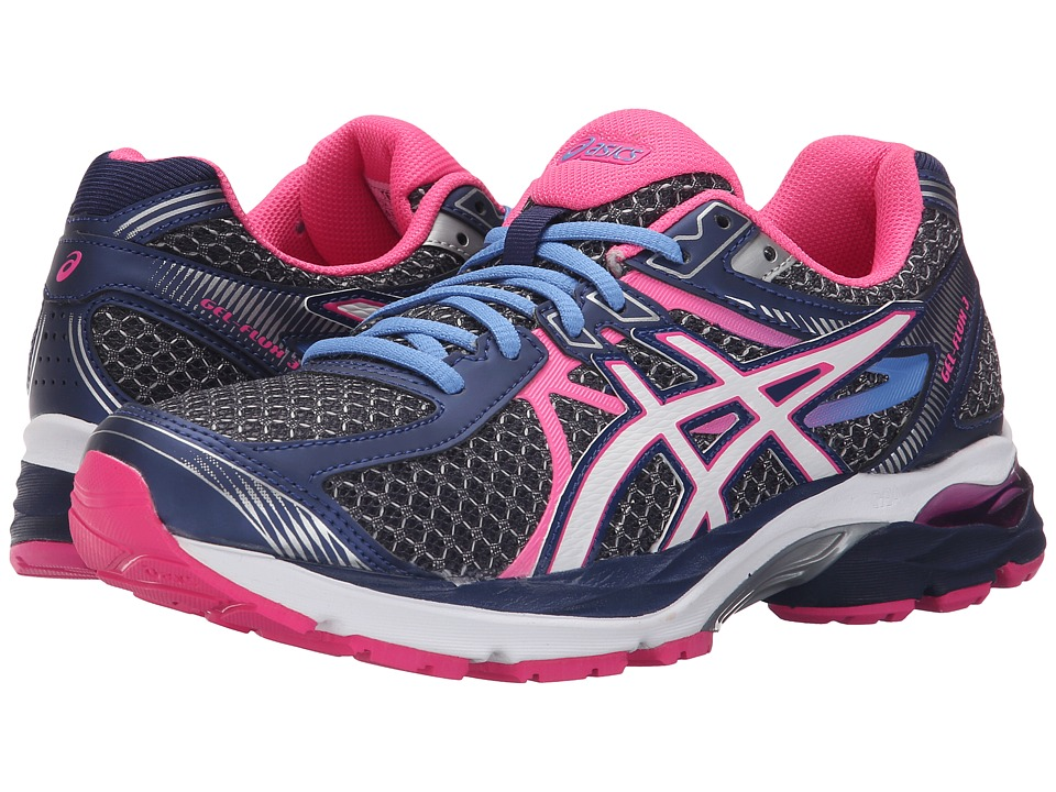 ASICS - GEL-Flux 3 (Indigo Blue/White/Hot Pink) Women's Running Shoes