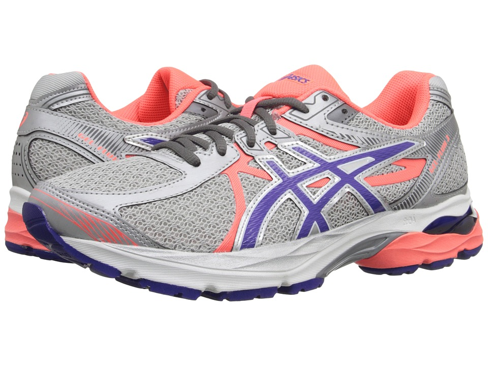 ASICS - GEL-Flux 3 (Silver/Blue Berry/Flash Coral) Women's Running Shoes
