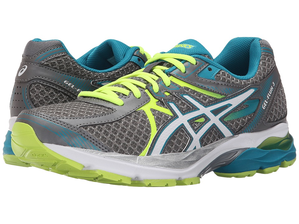ASICS - GEL-Flux 3 (Titanium/White/Enamel Blue) Women's Running Shoes