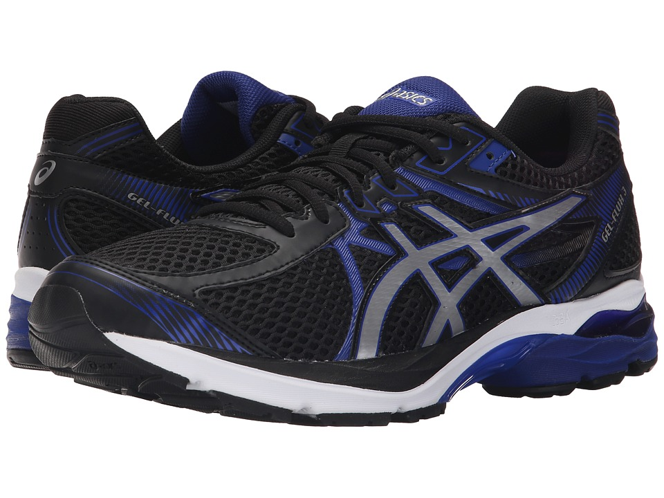 ASICS - GEL-Flux 3 (Black/Silver/ASICS Blue) Men's Running Shoes