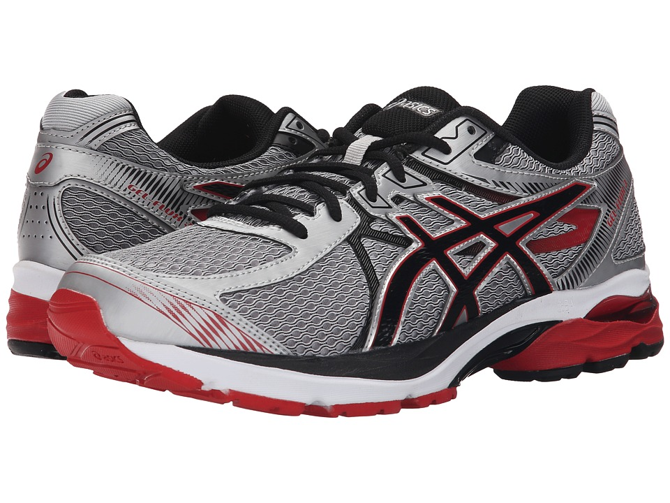 ASICS - GEL-Flux 3 (Silver/Onyx/Racing Red) Men's Running Shoes