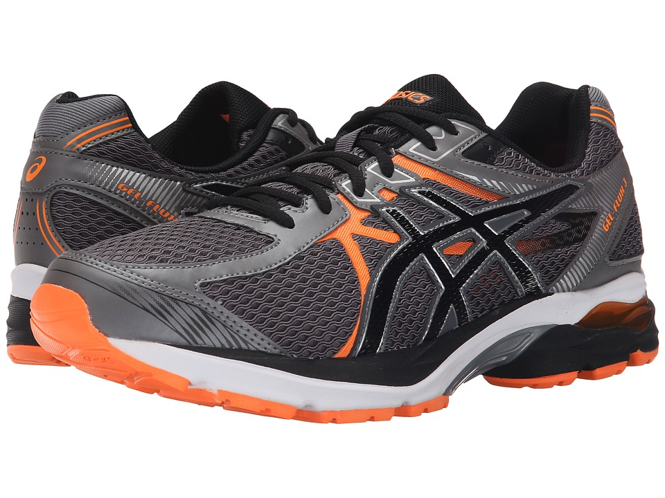 ASICS - GEL-Flux 3 (Carbon/Black/Hot Orange) Men's Running Shoes