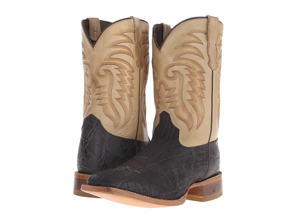 Old West Boots - 60104 (Chocolate Elephant Print/Boston Taupe) Cowboy Boots