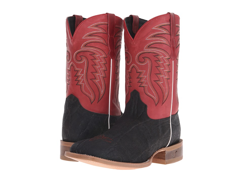 Old West Boots - 60103 (Black Elephant Print/Boston Red) Cowboy Boots