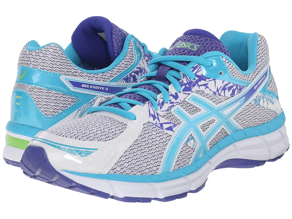 ASICS Gel-Excite 3 (White/Scuba Blue/Acai) Women