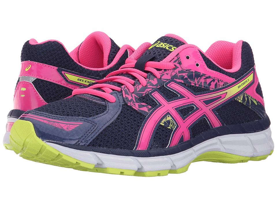ASICS - Gel-Excite 3 (Midnight/Hot Pink/Flash Yellow) Women's Running Shoes