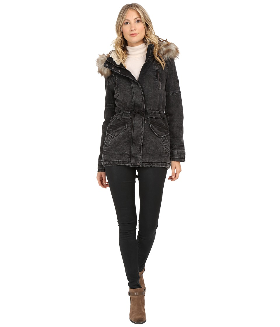 ONLY - Lee Denim Parka Coat (Black) Women's Coat