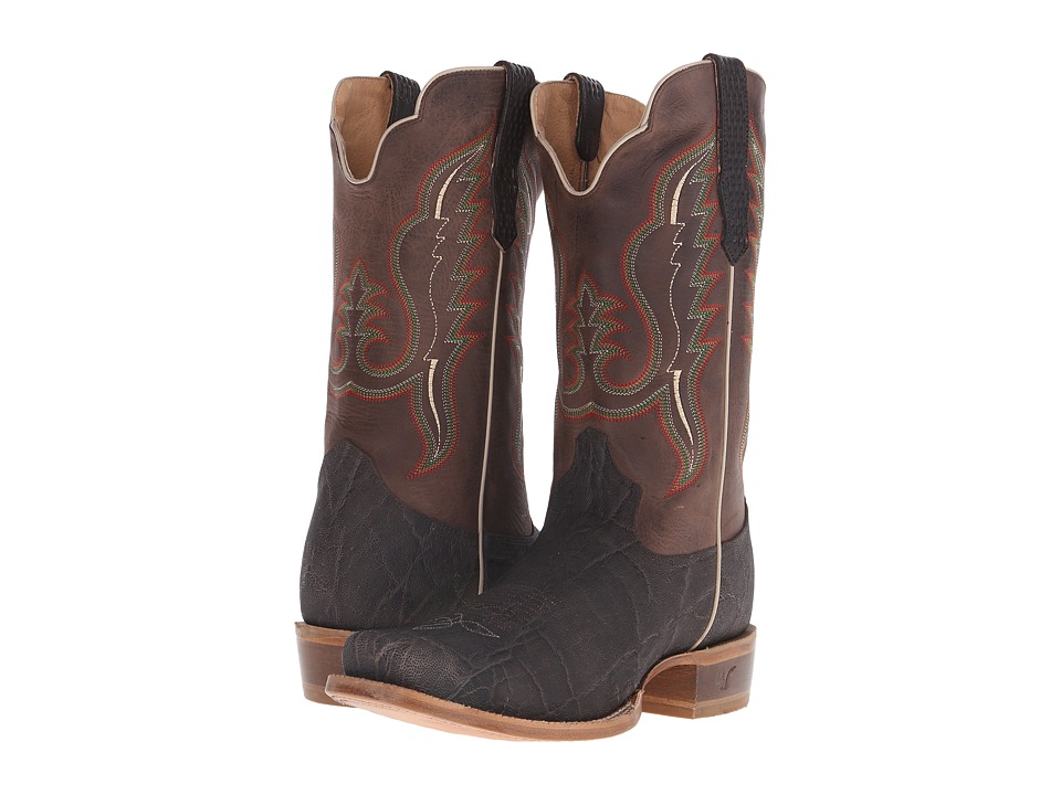 Old West Boots - 60008 (Chocolate Elephant Print/Alamo Cafe) Cowboy Boots