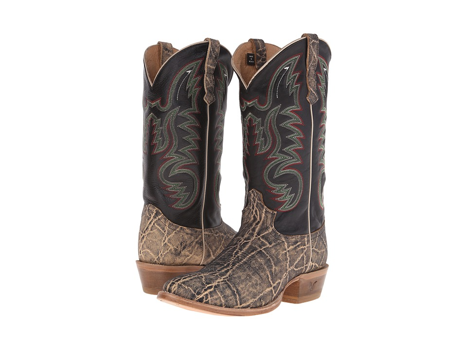 Old West Boots - 60205 (Oryx Elephant Print/Adrian Black) Cowboy Boots