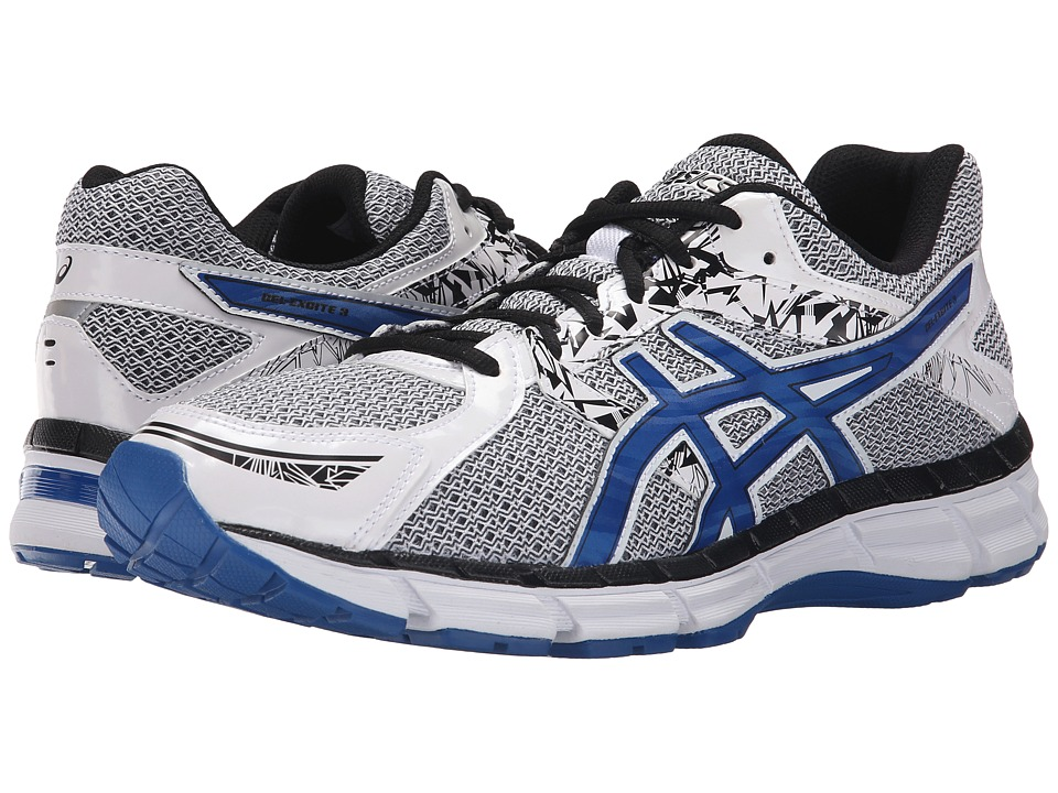 ASICS - Gel-Excite 3 (White/Snorkel Blue/Black) Men's Running Shoes