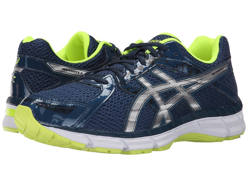 ASICS - Gel-Excite 3 (Ink/Silver/Flash Yellow) Men's Running Shoes