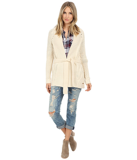 ONLY - Chantal Long Sleeve Knit Cardigan (White Swan) Women's Sweater