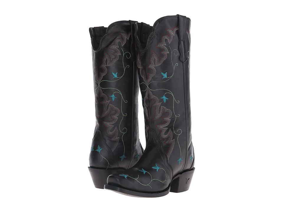 Old West Boots - 70111 (Black Liga) Cowboy Boots