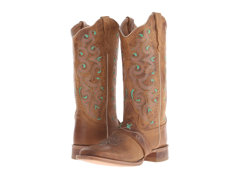 Old West Boots - 70053 (Tan) Cowboy Boots
