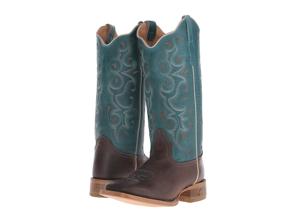 Old West Boots - 70050 (Alamo Cafe/Collazo Turquoise) Cowboy Boots
