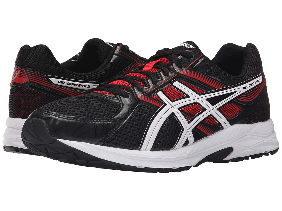 ASICS GEL-Contend 3 (Onyx/Snow/Racing Red) Men