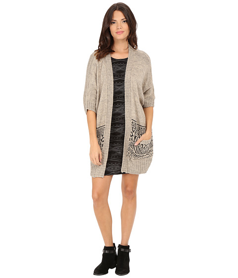 ONLY - Imanja 3/4 Knit Cardigan (Pumice Stone) Women's Sweater