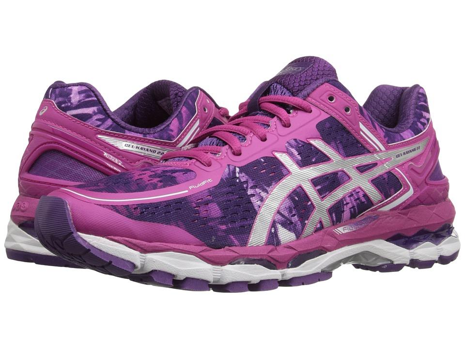 ASICS - GEL-Kayano 22 (Purple/Silver/Pink Glow) Women's Running Shoes