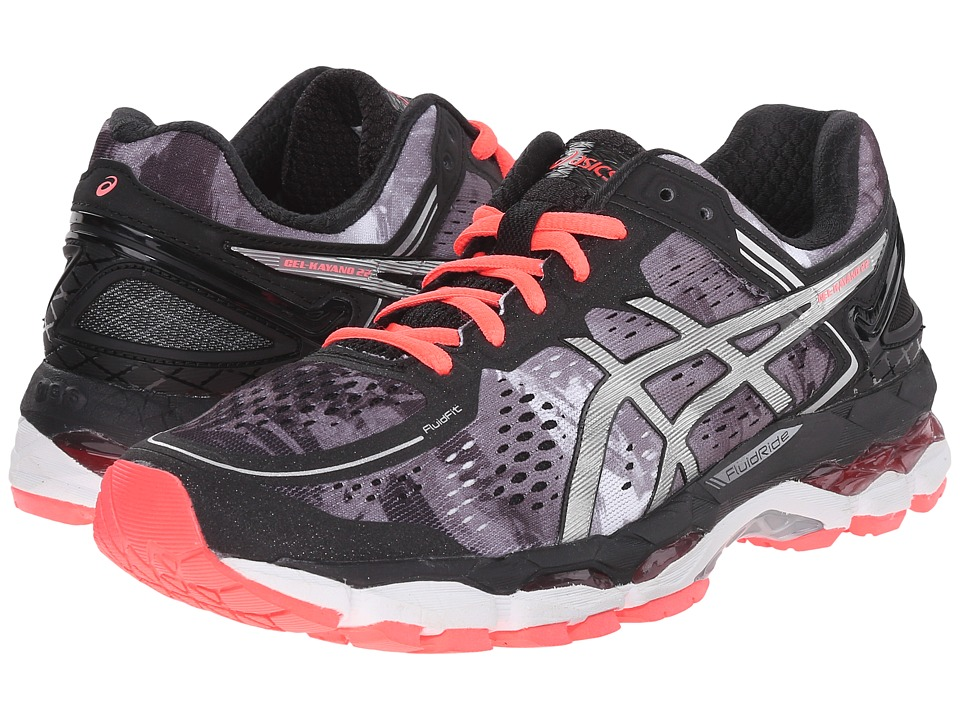 ASICS - GEL-Kayano 22 (Black/Flash Coral/White) Women's Running Shoes