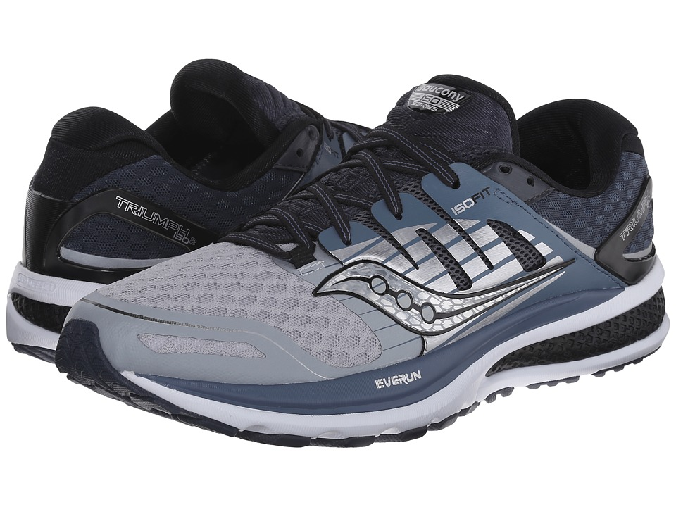 Saucony - Triumph ISO 2 (Grey/White/Silver) Men's Shoes