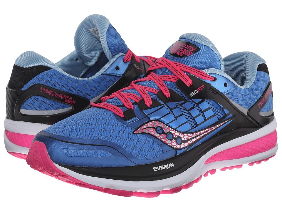 Saucony - Triumph ISO 2 (Blue/Pink) Women's Shoes