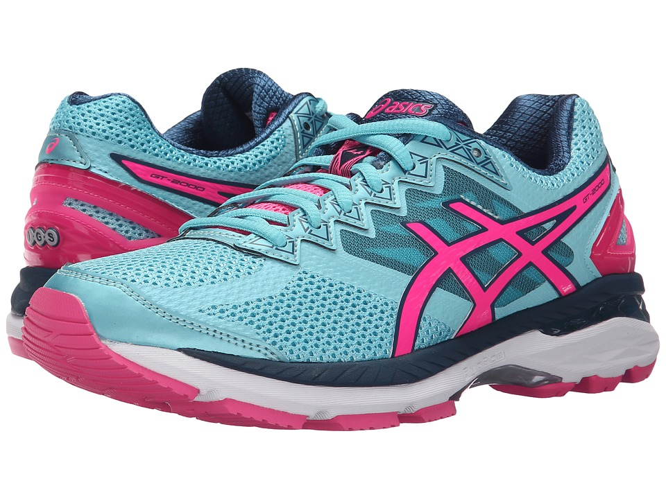 ASICS - GT-2000 4 (Turquoise/Hot Pink/Navy) Women's Running Shoes