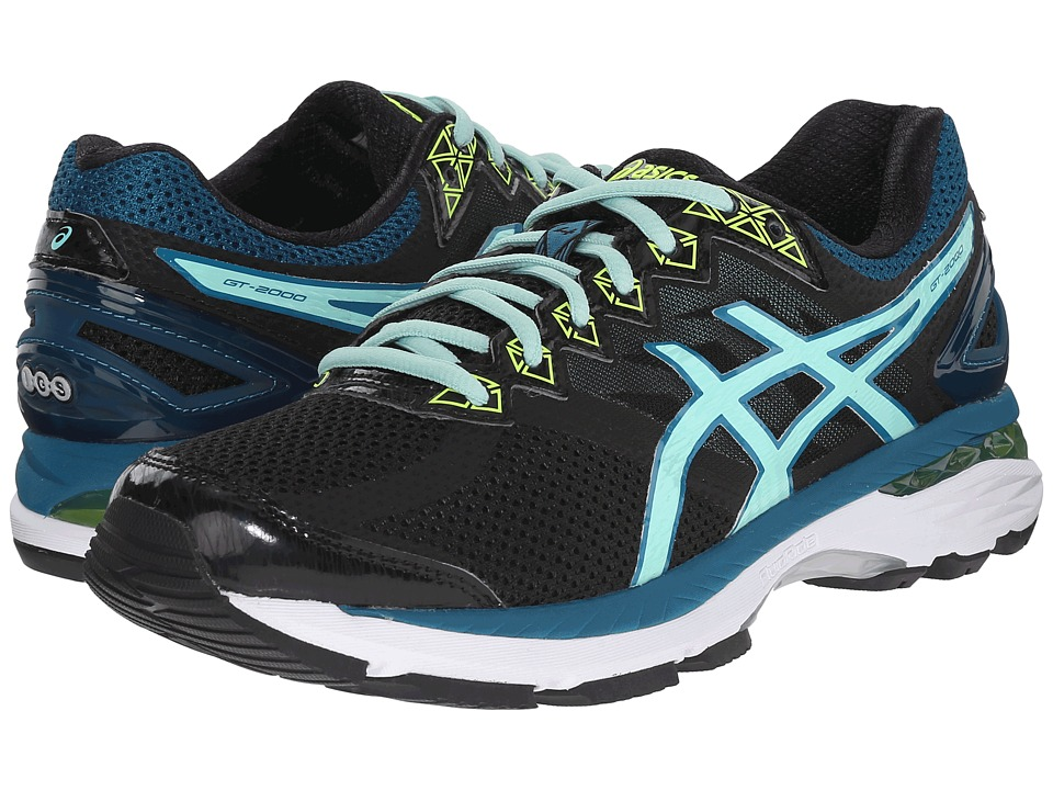 ASICS - GT-2000 4 (Black/Pool Blue/Flash Yellow) Women's Running Shoes