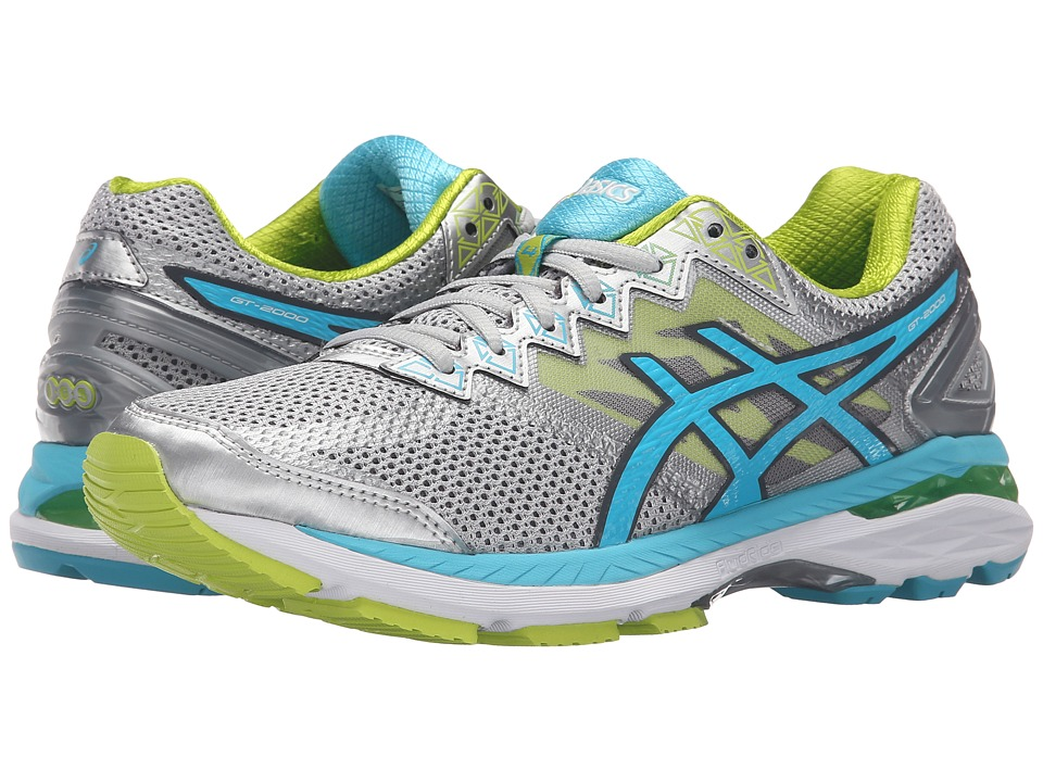 ASICS - GT-2000 4 (Silver/Turquoise/Lime Punch) Women's Running Shoes