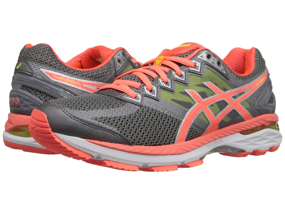 ASICS - GT-2000 4 (Charcoal/Flash Coral/Flash Yellow) Women's Running Shoes