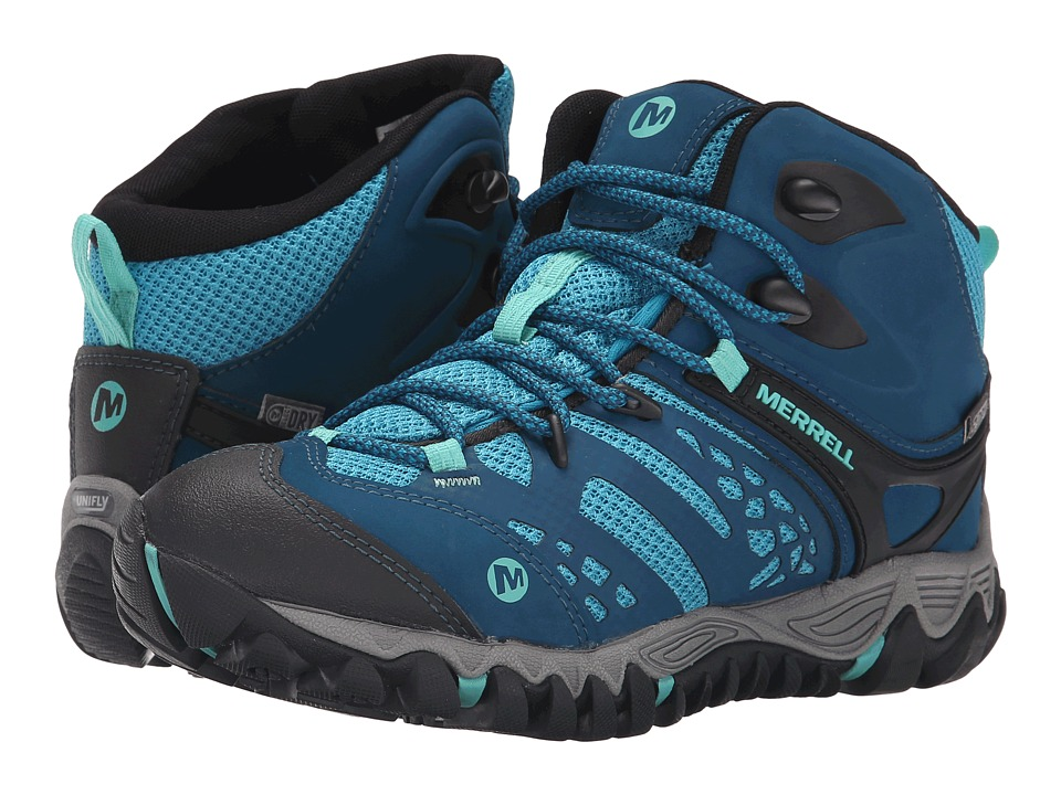 Merrell - All Out Blaze Vent Mid Waterproof (Turquoise/Aqua) Women's Shoes