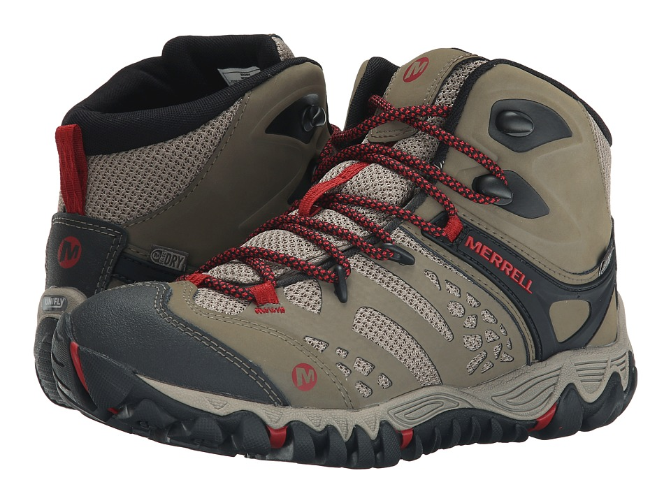 Merrell - All Out Blaze Vent Mid Waterproof (Brown) Women's Shoes