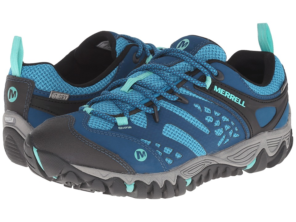 Merrell - All Out Blaze Vent Waterproof (Turquoise/Aqua) Women's Shoes