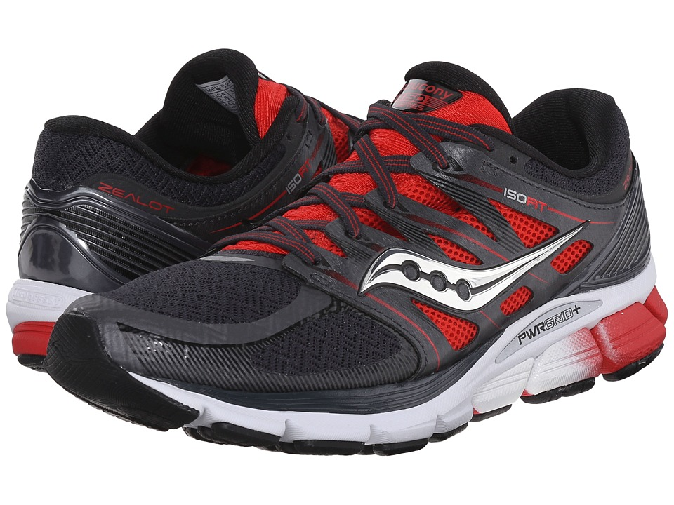 Saucony - Zealot ISO (Red/Black/Silver) Men's Running Shoes