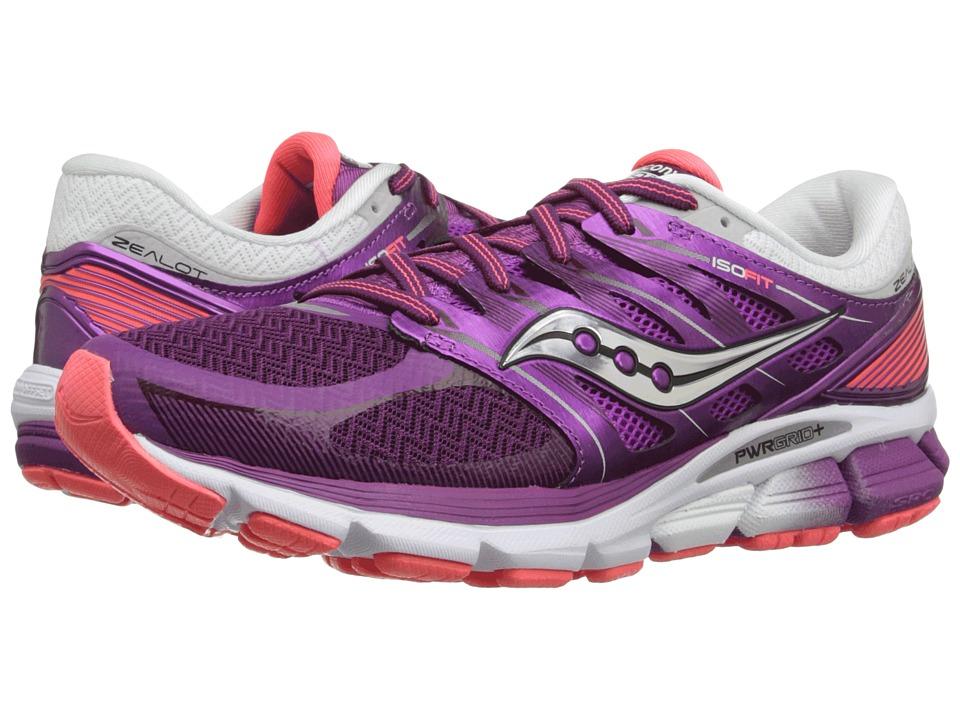 Saucony - Zealot ISO (Purple/Coral) Women's Running Shoes
