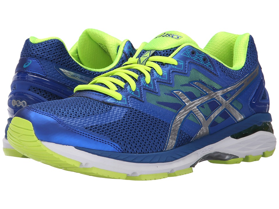ASICS - GT-2000 4 (ASICS Blue/Silver/Flash Yellow) Men's Running Shoes