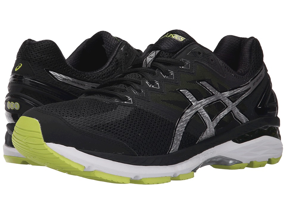 ASICS - GT-2000 4 (Black/Silver/Lime) Men's Running Shoes