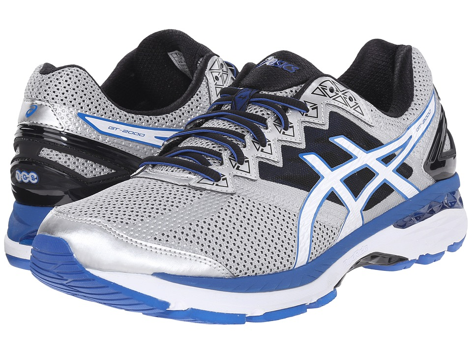 ASICS - GT-2000 4 (Silver/White/Royal) Men's Running Shoes