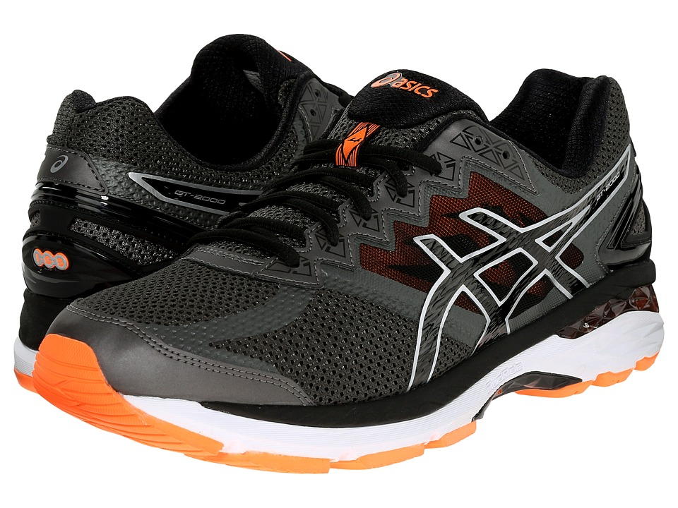 ASICS - GT-2000 4 (Carbon/Black/Hot Orange) Men's Running Shoes