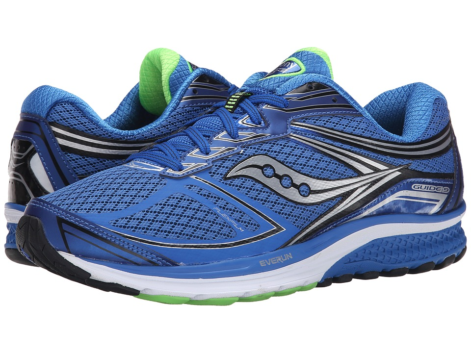 Saucony - Guide 9 (Blue/Slime/Black) Men's Shoes